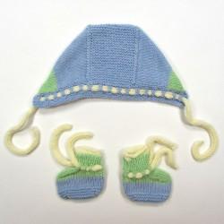 Ensemble tricot color block bébé garçon 1 mois