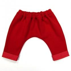 Pantalon sarouel rouge pour bébé mixte hiver