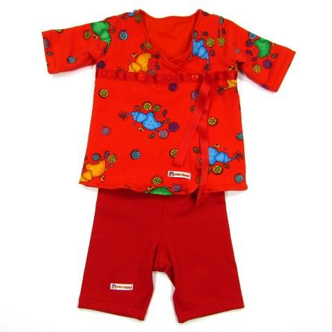 Ensemble tunique et pantalon en jersey bébé fille