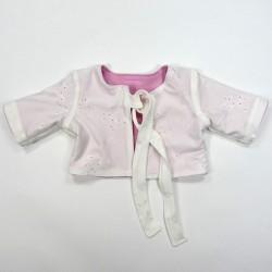 Cardigan jersey doublé blanc et rose1 mois bébé fille