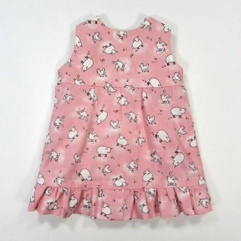 Robe imprimé animaux pour l'automne de bébé fille 1 mois