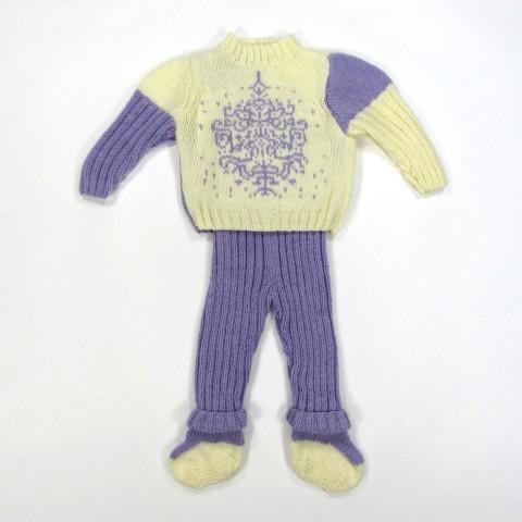 Trousseau bébé mixte au tricot en taille 3 mois