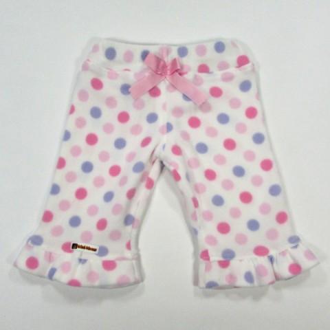 Pantalon polaire imprimé avec noeud satin devant pour bébé fille 3 mois