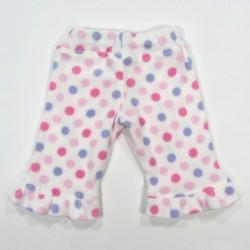 Pantalon vu de dos, volant au bas des jambes, taille 3 mois, bébé fille