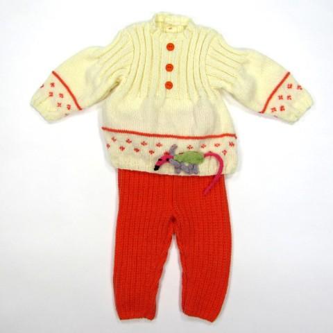 Tunique et caleçon en tricot pour bébé fille 6 mois automne