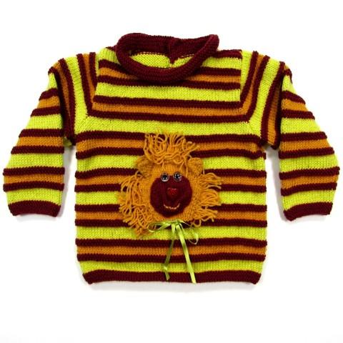 Pull et bonnet de lutin en tricot rayé bébé garçon 2 ans