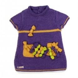 Tunique en laine manches courtes bébé fille 24 mois
