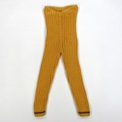 Legging caleçon en laine jaune curry bébé fille 2 ans