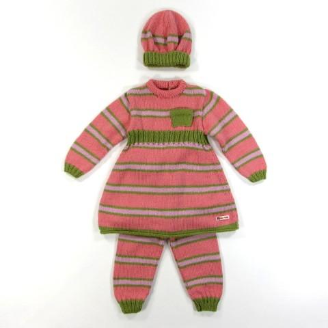 Tenue complète en laine pour bébé fille 2 ans
