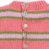 Ouverture partielle dos de robe fille 2 ans en tricot fermée par 5 boutons assortis