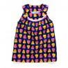 Robe chasuble velours imprimé chouettes bébé fille 2 ans