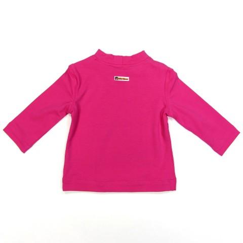 Dos de tee shirt bébé fille 2 ans rose fuchsia