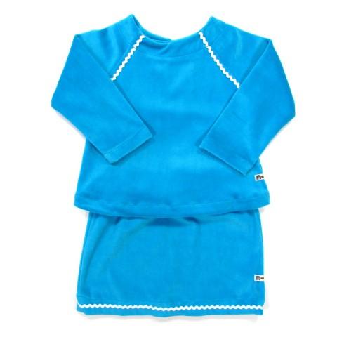 Ensemble turquoise pour bébé fille 24 mois