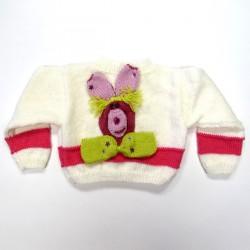 Cardigan lapin de dos pour bébé fille