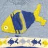 Détail du poisson sur le pull bébé garçon
