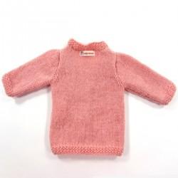Gilet de dos couleur rose poudré pour bébé fille prématurée jusqu'au 6 mois