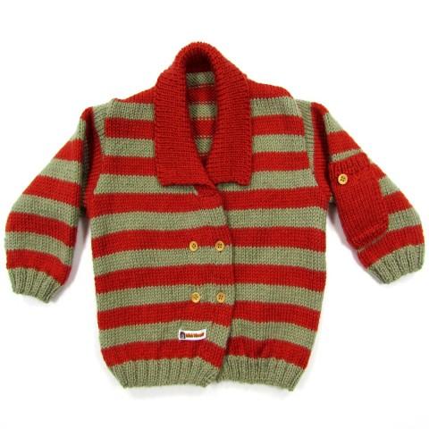 Veste en laine rayé bébé garçon