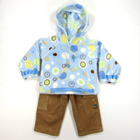 Sweatshirt à capuche et pantalon bébé garçon
