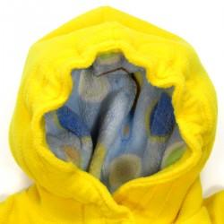 Capuche manteau doublée peluche et bord élastiqué pour bébé
