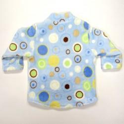 Dos sweatshirt bébé col montant  épaule droite à pressions base arrondie