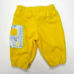 Dos pantalon bébé large ceinture et bas de jambe élastiqués