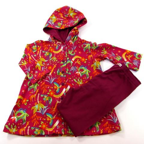 Ensemble robe à capuche et legging bébé fille 18 mois automne