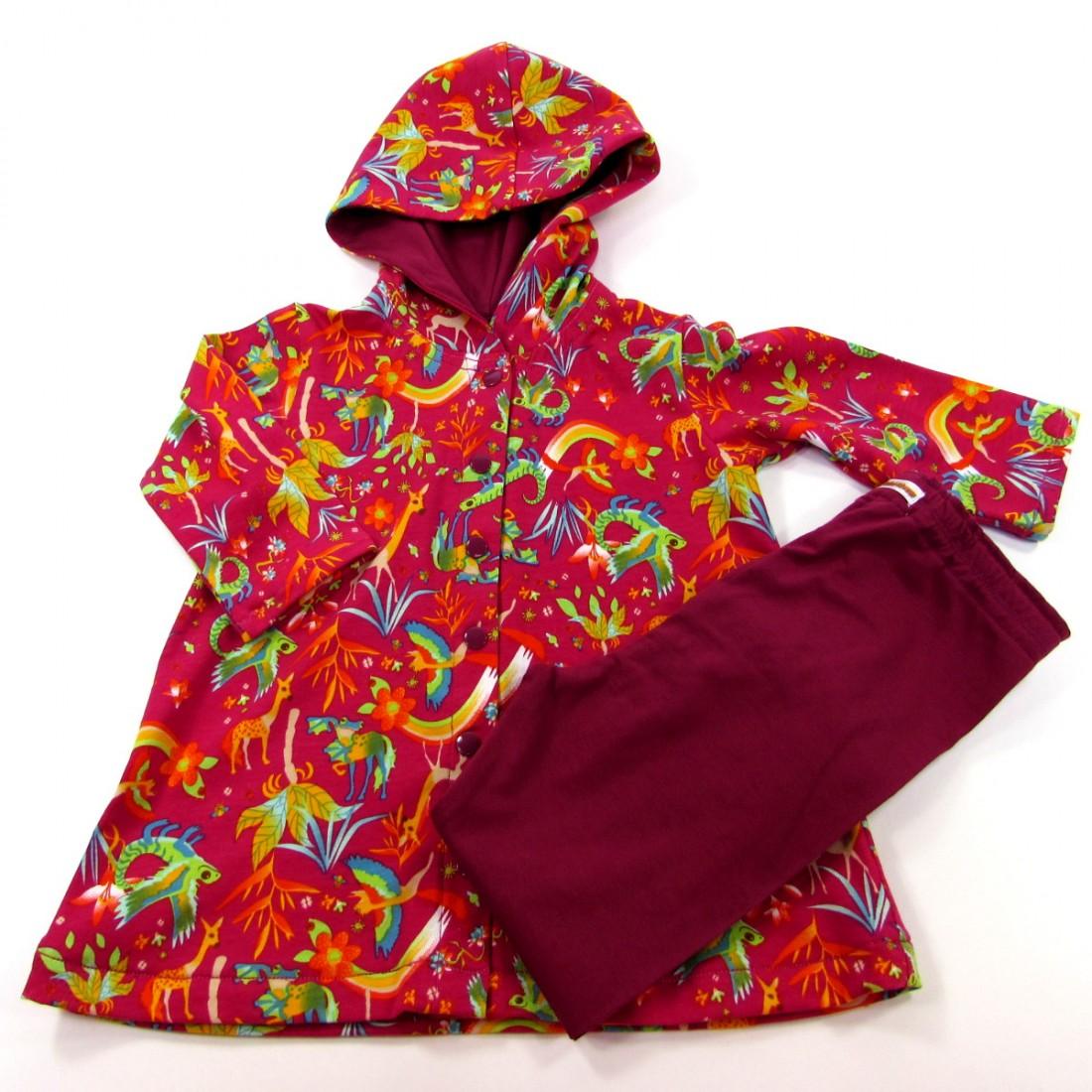 b339934a95abd Ensemble robe à capuche et legging bébé fille 18 mois automne
