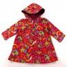 Robe bébé à capuche fuchsia imprimé drôles de bêtes féériques
