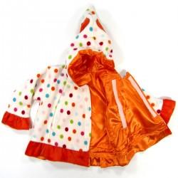 Manteau bébé devants croisés fermés par scratch sur toute la hauteur