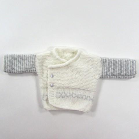 Brassière croisée devant en tricot pour bébé garçon prématuré