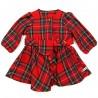 Robe écossais rouge écarlate avec ceinture et poche bébé fille 6 mois NOEL