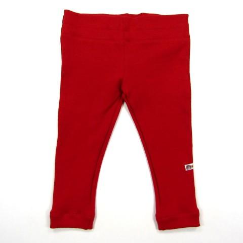 Collant rouge rubis bébé 6 mois vue de dos avec large ceinture de 4 cm