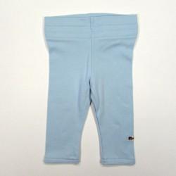 Legging jersey bleu ciel bébé fille 3 mois assorti au corsage de la robe boule