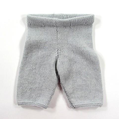 Pantalon bébé garçon prématuré en tricot gris perle