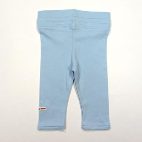 Caleçon bleu ciel de dos pour bébé fille 3 mois en jersey