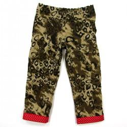 Pantalon de camouflage sable et marron pour bébé fille