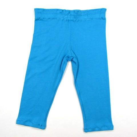 Legging bébé fille 2 ans en jersey coton bleu turquoise