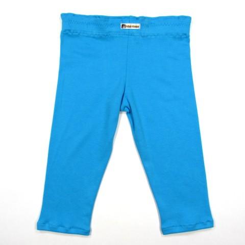 Caleçon bébé fille de dos, taille élastiquée sous tunnel, coloris bleu turquoise