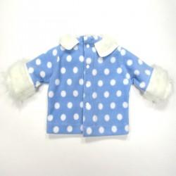 Sweat-shirt hiver avec fourrure aux poignets et col Claudine pour bébé garçon