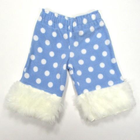 Pantalon hiver en polaire bleu et blanc bébé garçon