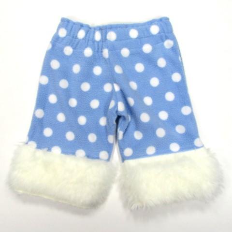 Pantalon hiver bébé garçon avec fourrure blanche au bas des jambes