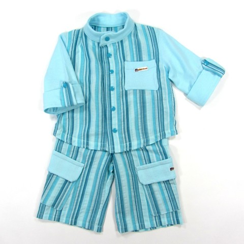 Costume de cérémonie bleu bébé garçon 1 an