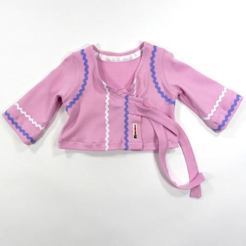 Cache coeur en jersey rose guimauve pour bébé fille 18 mois