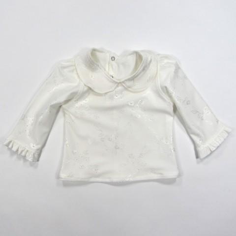 Blouse blanche bébé fille 18 mois