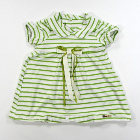 Barboteuse rayée bébé garçon 1 mois