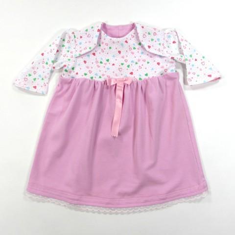 Robe longue rose et blanche pour bébé fille 3 mois