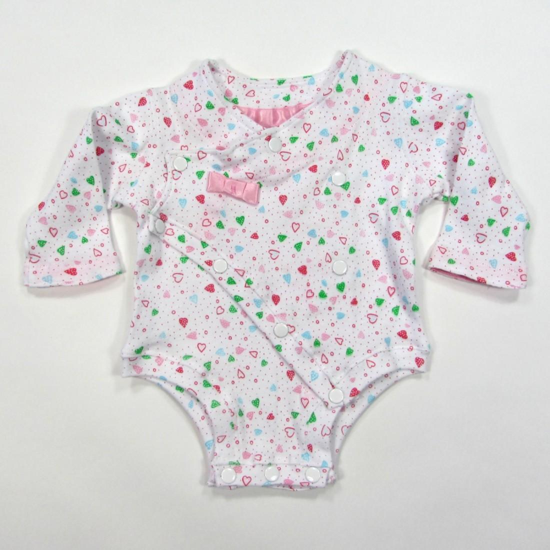 Body blanc avec petits coeurs bébé fille 3 mois