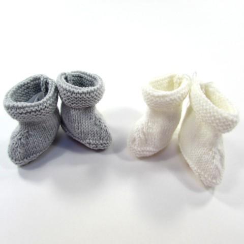 Chaussons en laine pour bébé garçon prématuré idéal pour réchauffer les petits pieds